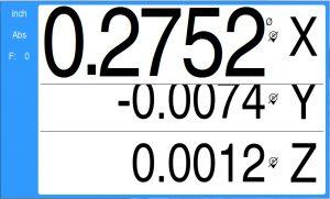 DRO100 axis zoom 3X display