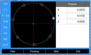 DRO200 hole pattern