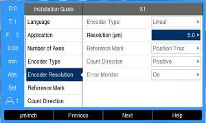 DRO300 installation guide display
